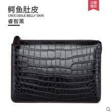 gete New crocodile skin men hand bag male handbag imported belly handmade Mens casual zipper clutch