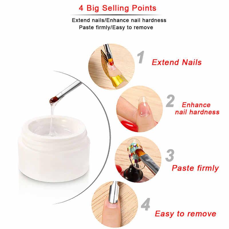 Lghzlink Gel de constructeur UV pour l'extension des ongles acrylique Poly Gel rose/blanc/clair prolonger le Gel Camouflage Art des ongles étendre les ongles