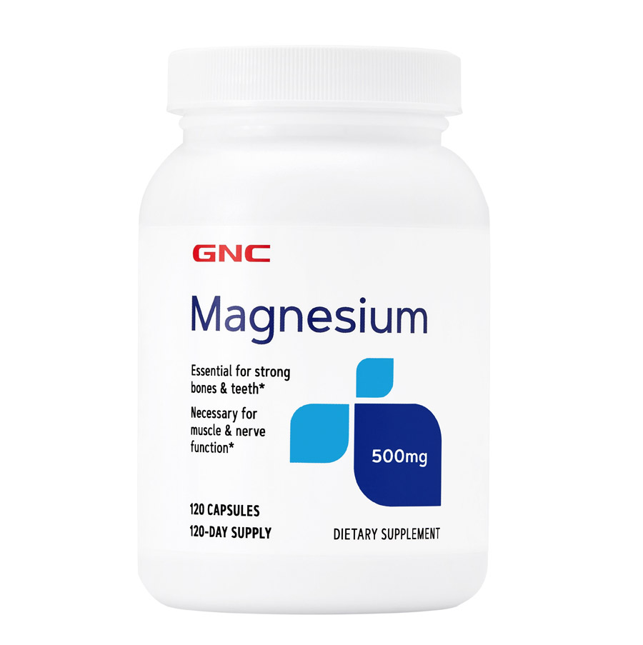 Free shipping Magnesium 500 mg Essential for calcium absorption and <font><b>strong</b></font> bones & teeth <font><b>120</b></font> pcs image