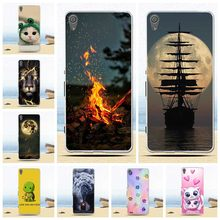 Phone Case For Sony Xperia XA Case F3111 F3112 Soft Silicone TPU Fashion Flower Painted Back Cover For Sony Xperia XA1 Plus Case(China)