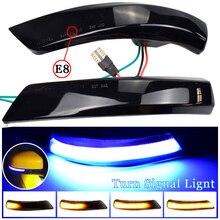 2pcs Flowing Turn Signal Light LED Side Wing Rearview Mirror Dynamic Indicator Blinker For Ford Focus 2 3 Mk2 Mk3 Mondeo Mk4 EU