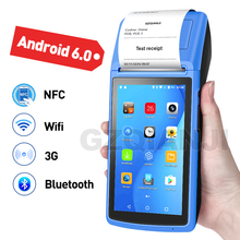 Terminal POS PDA de mano, dispositivo para impresión de recibos, WiFi, NFC, 3G, 58mm, para pedidos móviles, Android 6,0