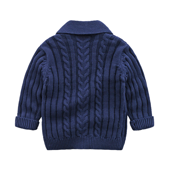 lioraitiin 0-3Years Autumn Winter Children Cardigan Coat Boy Girls Knitted Sweaters Cotton Baby Single-Breasted Jacket 3