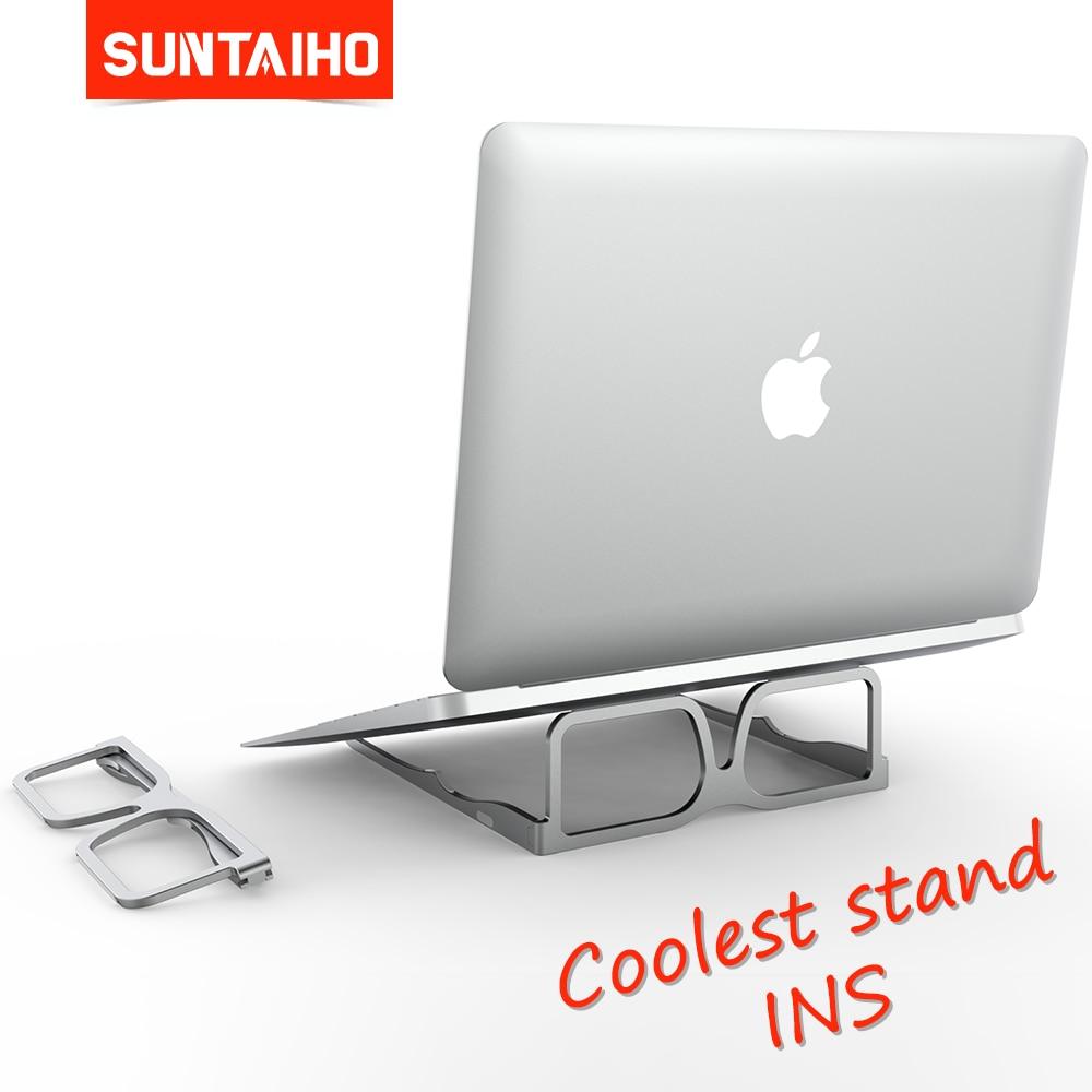 Suntaiho Laptop Stand Ergonomic Aluminum Laptop Mount Computer Holder for MacBook Pro Air Xiaomi Huawei 10-15 6 Inch PC Notebook