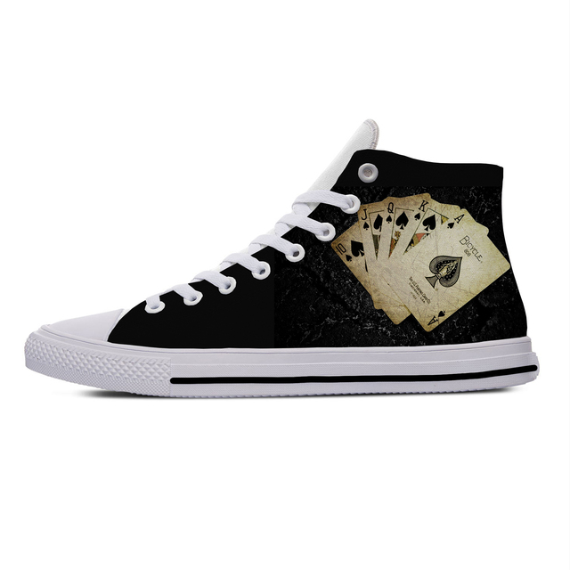 POKER CARD SKULL HIGH TOP SHOES (8 VARIAN)