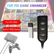 Game Enhancer Plug Games Pack For Playstation Accessories Built-in 7000 True Blue Mini PS1