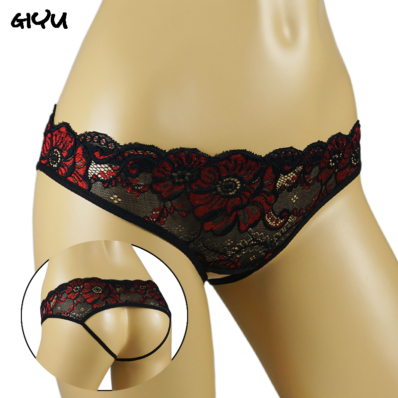 Woman Sexy Panties Hot Erotic Open Crotch Thongs Lace Sex Crotchless Underwear Open Back Underpants Sex Briefs Tangas Women Sexy