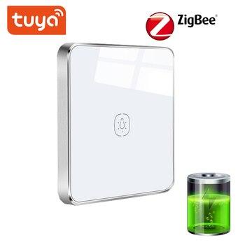 Commutateur de batterie de Tuya ZigBee, automatisation d'un bouton de commutateur de panneau de scène fonctionnant avec le Hub de TuYa ZigBee, liaison en un clic