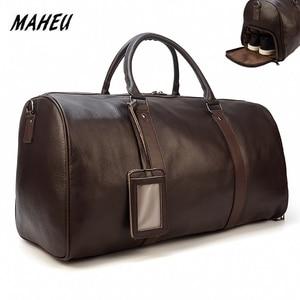 Image 1 - MAHEU สูงแฟชั่นกระเป๋าผู้หญิง 2019 ชายหญิง duffle กระเป๋าพกพากระเป๋าหนังแท้สำหรับเครื่องบิน
