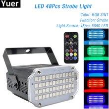 48 Светодиодный s RGB 3IN1 светодиодный мерцающий светильник пульт ДУ со звуковым управлением головы мыть луч 2IN1 сценический светильник s вечерн...