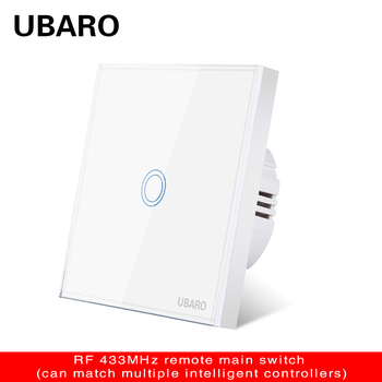 UBARO EU Ac220v Standard 1/2/3 Gang  Wireless Remote Control Light Touch Switches Smart Home RF433  Control Wall Switch interruptor smart light switch us standard 1 2 3 gang 110v wifi wireless ewelink app remote control touch switches wall switch