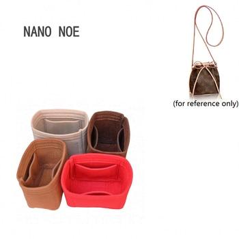 Fits For Nano noe bucket bag purse insert Organizer Makeup Handbag travel organizer Inner Purse Cosmetic bag Toiletry bag
