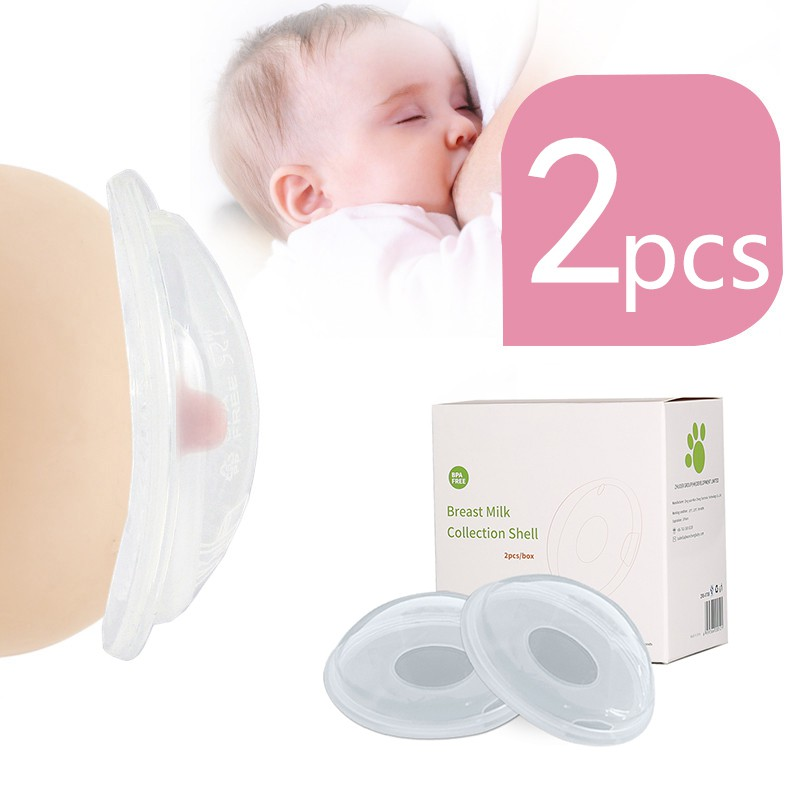 2pcs Portable Baby Breastfeeding Milk Collectors Soft Postpartum Nipple Suction Container Reusable Nursing Pad