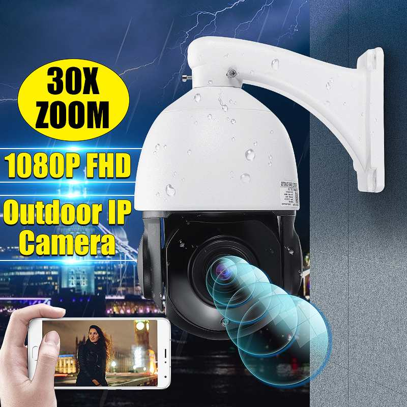 1080P 30X Zoom WIFI POE 2.0MP PTZ IP Camera Pan/Tilt Speed Dome Camera Audio Waterproof Home Security Camera IP CCTV Camera
