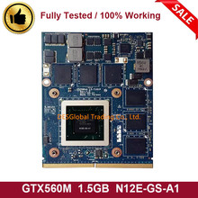 GTX 560M GTX560M 1,5 GB N12E-GS-A1 Für TOSHIBA QOSMIO X770 X775 Laptop VGA Graphics Grafikkarte K000127390 LS-7191P 100% arbeits