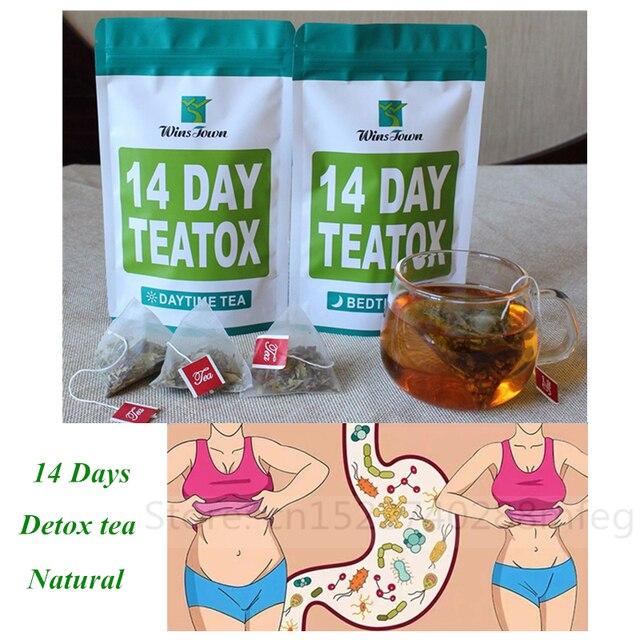 14days100% Pure Natural Detox Tea Bags Colon Cleanse Fat Burn Weight Loss Tea Man Women Tea Belly Slimming Tea Anti Cellulite