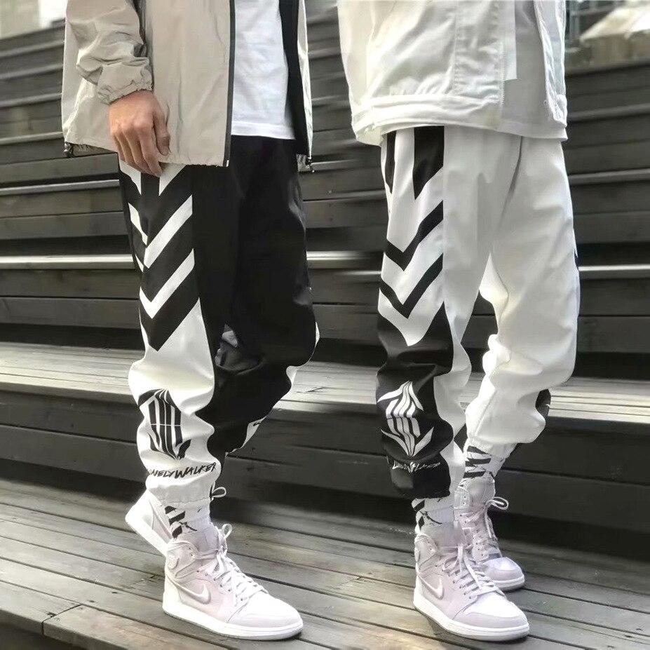 Popular Brand INS Super Fire Pants Men's Hiphop Ankle Banded Pants Loose-Fit Xi Ha Ku National Trends Sports Ninth Pants Couples