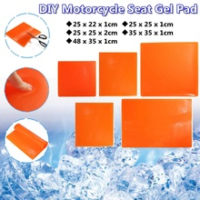 Mat Motorcycle-Seat Cushion Comfortable Soft Cool Gel-Pad Orange Shock-Absorption Modified