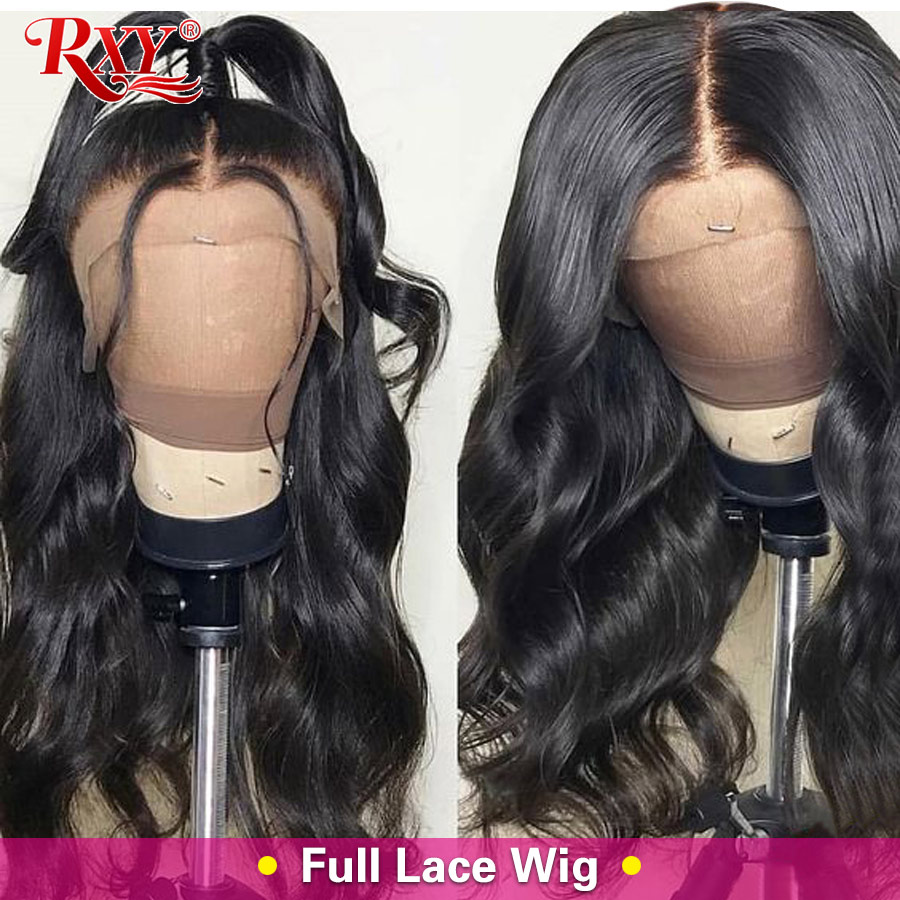 RXY Pre Plucked Full Lace Human Hair Wigs For Black Women Brazilian Body Wave Glueless Full Lace Wigs With Baby Hair Remy Hair