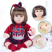 Lifelike 42 CM Silicone Soft Body Girl bebe Reborn Baby Doll Toy Like Alive 17 Inch Princess Birthday Gift Fashion Present