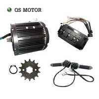 Qsmotor 138 72V 100KPH 3kw Metà Azionamento Del Motore 3000 W di Potenza Treno Kit con Il Regolatore Del Motore Pignone Tipo