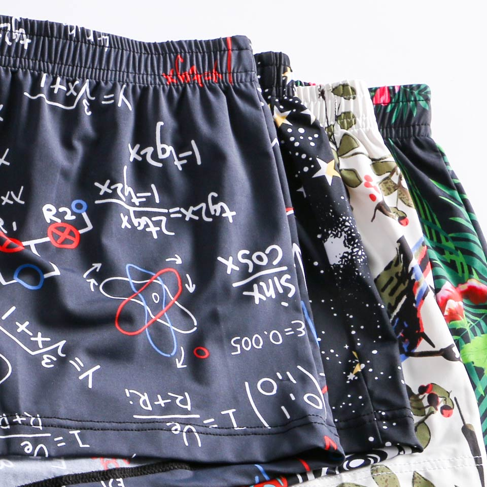 Image 4 - Soutong 2019 New 3pc Men Boxer Underwear Ice silk Comfortable Home Underpants Men Breathable Printed Loose Boxer Shorts cuecasBoxers   -