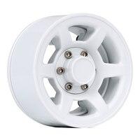 "INJORA 4Pcs Plastic 1.55"" Beadlock Wheel Rim White/ Black for 1/10 RC Crawler Car Axial 90069 D90 TF2 Tamiya CC01 LC70 MST JIMNY 3"