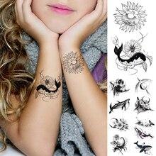 Children Tattoo Transferable Waterproof Temporary Tatoo Sticker Whale Flower Animal Cute Flash Body Art Fake Tatto Man Woman Kid