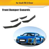 Car Front Bumper Fins Splitters Canards For Audi R8 2016 2018 Front Bumper Splitters Spoiler Carbon Fiber