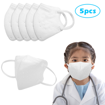 5Pcs Kids KN95 Mask Anti Dust Respirator Face Mouth Cover Shied Children K N95 Mascarillas Protective Facial Masque PPE
