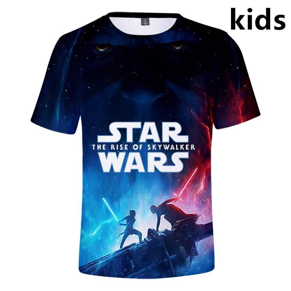 3 To 14 Kids T Shirt Star Wars The Rise Of Skywalker 3d T Shirt Boys Girls Short Sleeve Cartoon Tshirt Tee Children Clothes T Shirts Aliexpress