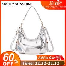 Snake Print Hobo Messenger Bag Womens Shoulder Bags Handbag Female Silver Small Crossbody Bags For Women 2020 Ladies Hand Bag