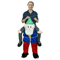 Ride On Pants Costume Halloween Carnival Party Costume Carry On Blue Cloth Men Oktoberfest Cosplay For Adult Men