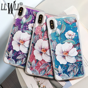 New Arrival Flower Liquid Case For Honor 8X Case Honor 8A Case Glitter Cover For Huawei Honor 8C Case For Honor 9 Lite 8 Lite фото