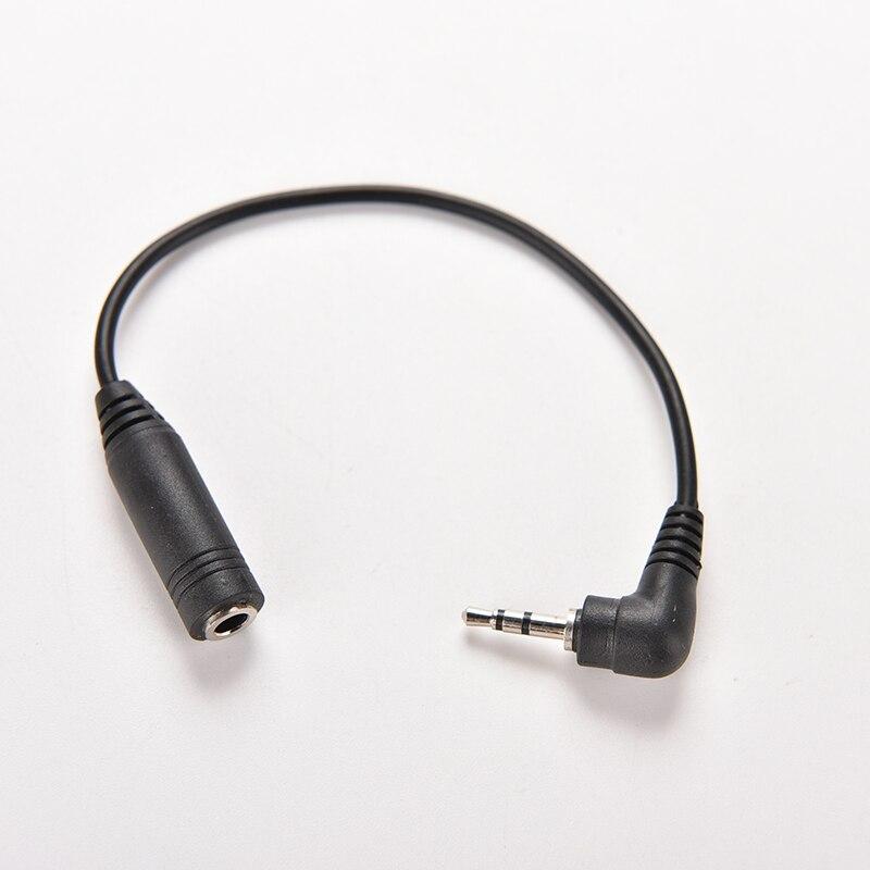 Adaptador de potência, conversor ângulo reto 2.5mm para entrada macho fêmea 3.5mm entrada de áudio estéreo trs soquete adaptador de energia dc cabo 15.5 cm de comprimento