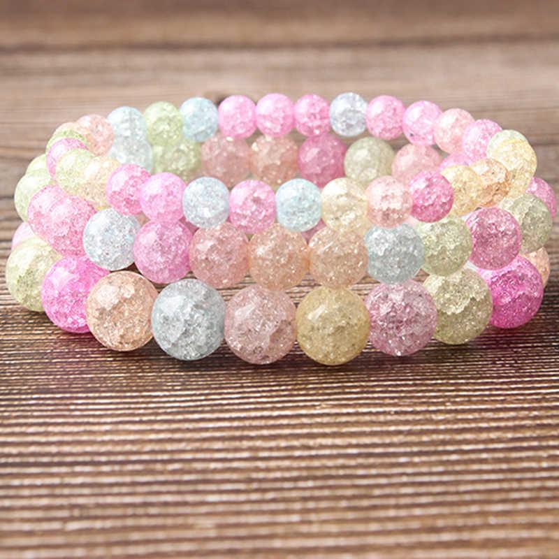 Lanli Natuurlijke Sieraden 6/8/10/12 Mm Blauw Jades Losse Bead Armband Fashion Accessoires Voor Mannen En Vrouwen en Amulet Serie