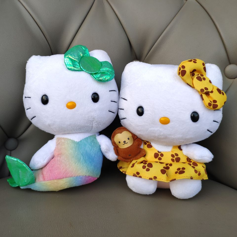 Kit Cat Mermaid Plush Toys Stuffed Animals Kids Baby Toys Girl Gift Real Picture 15CM