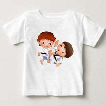 Boys and Girls A Judo T shirt Summer Children Tops T shirt Kids Casual Soft Clothes Judo Sports short sleeved cotton T-shirt цена и фото