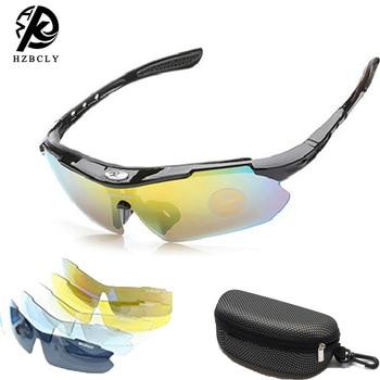 1 conjunto polarizado esportes ciclismo óculos de sol para homens mulher ciclismo equitação correndo óculos de condução com 4 substituição lente