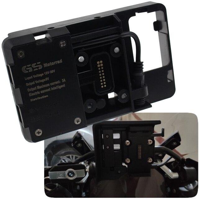 Soporte de navegación del teléfono móvil de la motocicleta carga del teléfono USB para YAMAHA Tenere 700 900GT XT1200ZE SUPER TENERE