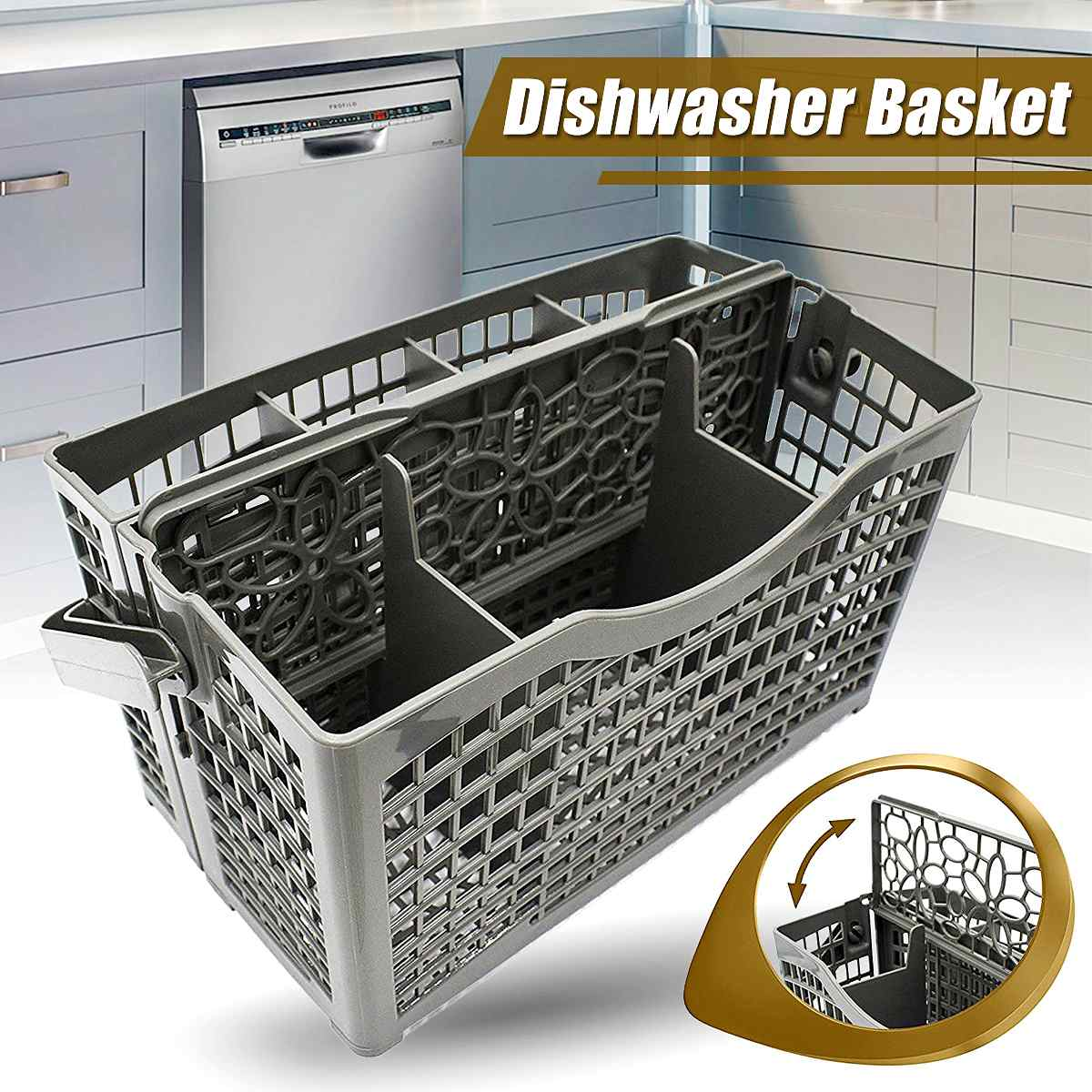 Universal Dishwasher Basket Cutlery Basket Dishwasher Parts Dish Washer Storage Box For Bosch Maytag Whirpool LG Samsung GE