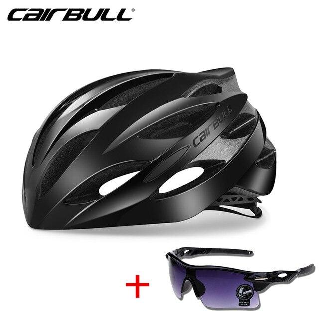 Cairbull ultraleve ciclismo capacete de corrida com óculos de sol intergrally-moldado mtb capacete da bicicleta de estrada de montanha capacete 1