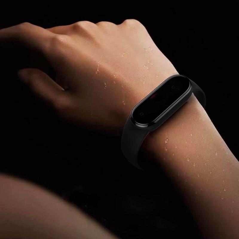 Band Voor Xiaomi Mi Band 5 4 3 Sport Polsband Siliconen Armband Mi Band 3 4 Band5 Vervanging Bandjes Voor mi Band 5 Horloge Band 3