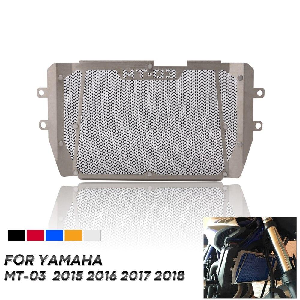 Бесплатная доставка мотоциклетная решетка радиатора Защитная крышка протектор идеально подходит для Yamaha MT-03 MT03 MT 03 2015 2016 2017 2018