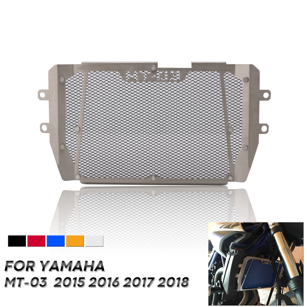 Free Shipping Motorcycle Radiator Grille Grill Guard Cover Protector Perfect Fit For Yamaha <font><b>MT</b></font>-<font><b>03</b></font> MT03 <font><b>MT</b></font> <font><b>03</b></font> 2015 2016 2017 <font><b>2018</b></font> image