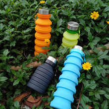 550ML Sport Portable Water Bottle Folding Coffee Outdoor Travel Drinking Collapsible Kettle Retractable Drink Bottles