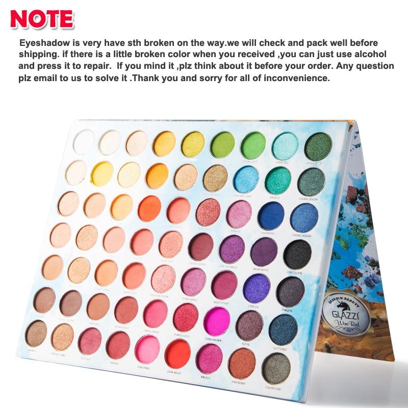 ICYCHEER 63 Color Creamy eyeshadow pallete Glitter Makeup Matte Eye shadow  High Pigmented palette maquillage paleta de sombra