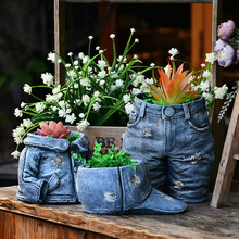 Hat Pants Arrangement-Container Flower-Pot Garden Creative Craft Gift Resin Ornament