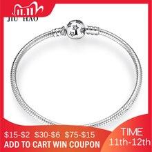 Bracelet en argent Sterling 100% 925, chaîne scintillante, étoile serpent, zircon cubique CZ classique pour femmes, bijoux à bricoler soi même