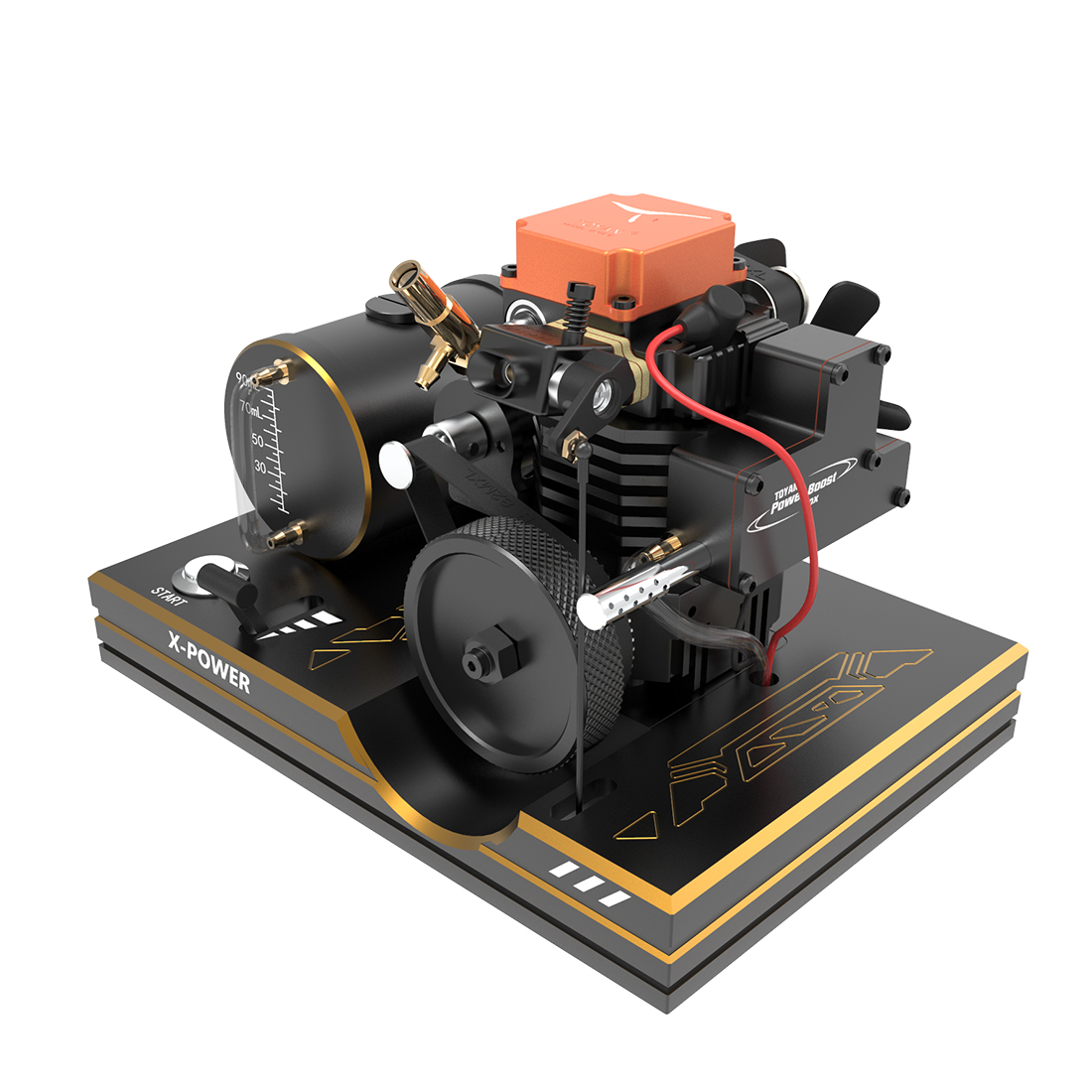 Toyan 4-Stroke Methanol FS-S100A DIY Engine Model Set For 1:10 1:12 1:14 Car Ship Airplane Model Experiment Toy For 14+